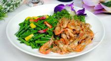韭菜花炒虾仁的做法