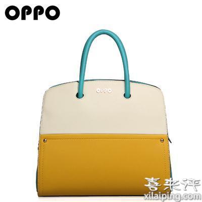 OPPO女包大包欧美简约时尚潮流拼接撞色手提包11076