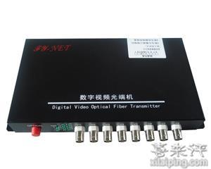 飞宇8路视频+1路数据+(1-8)路音频+1路以太网光端机(单模 100km)