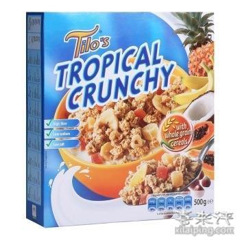 Tilo 迪乐 热带水果脆麦片 500g