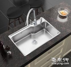 MOEN 摩恩 304不锈钢单槽水槽套装 抽拉厨房水龙头28001SL 68002 7029